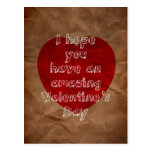 Paper bag valentine post card