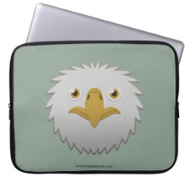 Paper Bald Eagle Laptop Sleeve