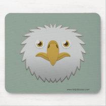 Paper Bald Eagle Basic Mousepad