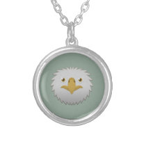 Paper Bald Eagle Silver Necklace