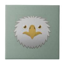 Paper Bald Eagle Ceramic Tile
