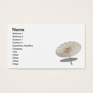 Paper Bamboo Umbrella Business Card