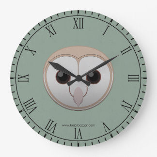 Paper Barn Owl Large Clock
