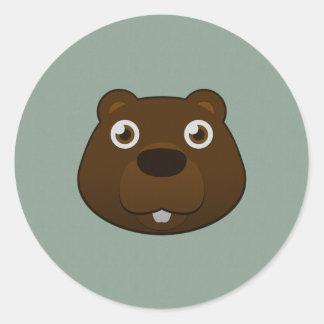 Paper Beaver Classic Round Sticker