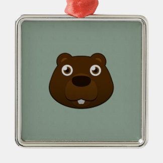 Paper Beaver Metal Ornament