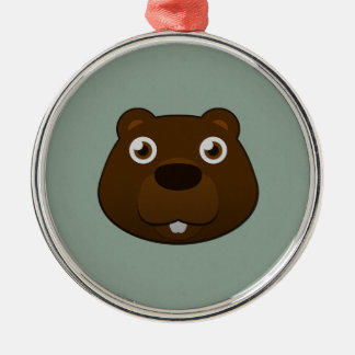 Paper Beaver Christmas Ornament