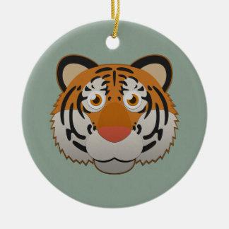 Paper Bengal Tiger Ceramic Ornament