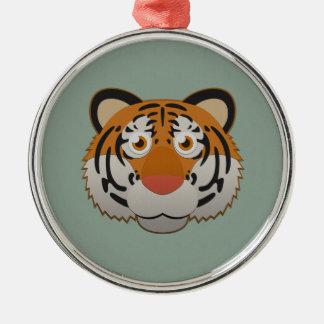 Paper Bengal Tiger Metal Ornament