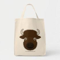 Paper Bison Tote Bag