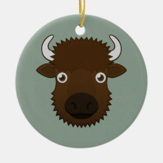 Paper Bison Christmas Tree Ornaments