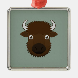 Paper Bison Christmas Ornament