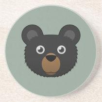 Paper Black Bear Sandstone Coaster