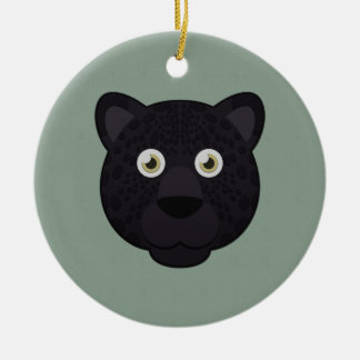 Paper Black Panther Ceramic Ornament