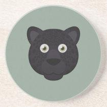 Paper Black Panther Sandstone Coaster
