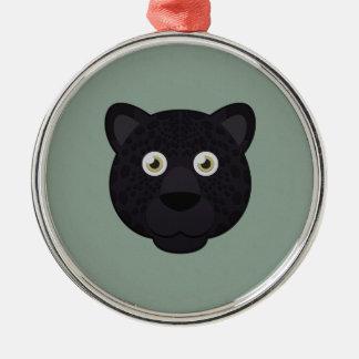 Paper Black Panther Metal Ornament