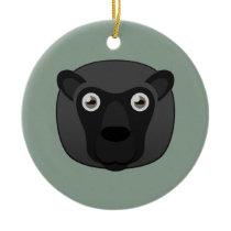 Paper Black Sheep Ceramic Ornament