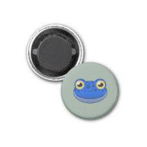 Paper Blue Frog Magnet