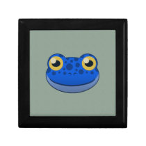Paper Blue Frog Hinged Gift Box