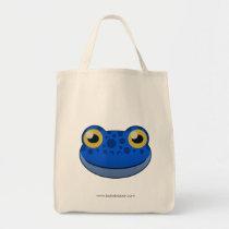 Paper Blue Frog Tote Bag