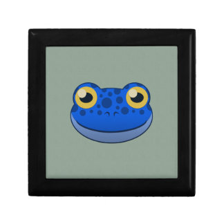 Paper Blue Frog Jewelry Box
