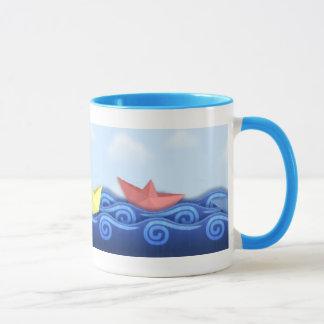 Paper Boat Race Cup Coffee Mug