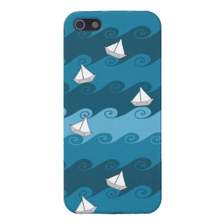 Paper Boats Pattern Cover For iPhone SE/5/5s
