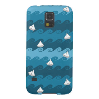 Paper Boats Pattern Galaxy S5 Cases