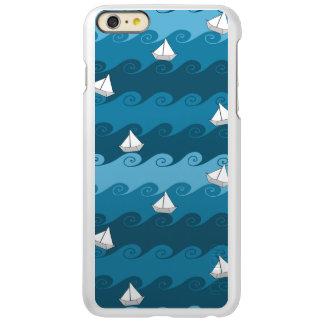 Paper Boats Pattern Incipio Feather Shine iPhone 6 Plus Case