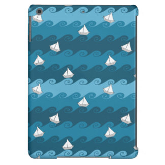 Paper Boats Pattern iPad Air Cover