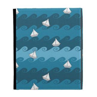 Paper Boats Pattern iPad Folio Case