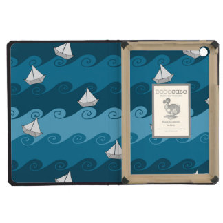 Paper Boats Pattern iPad Mini Cover