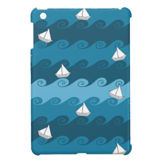 Paper Boats Pattern iPad Mini Covers