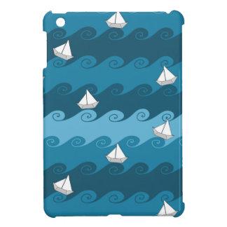Paper Boats Pattern iPad Mini Covers
