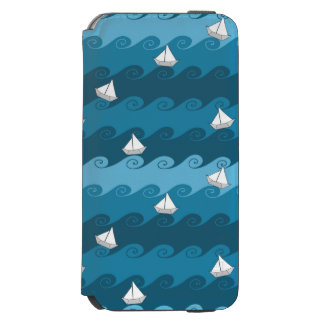 Paper Boats Pattern iPhone 6/6s Wallet Case