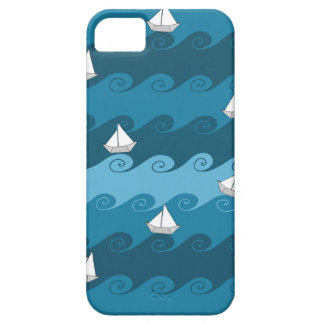 Paper Boats Pattern iPhone SE/5/5s Case