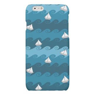 Paper Boats Pattern Matte iPhone 6 Case