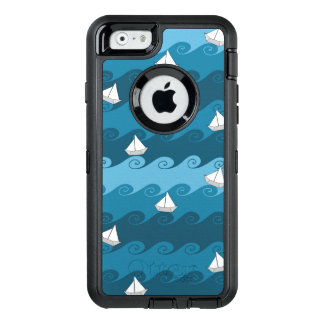 Paper Boats Pattern OtterBox iPhone 6/6s Case