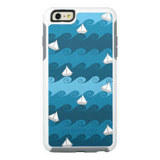 Paper Boats Pattern OtterBox iPhone 6/6s Plus Case