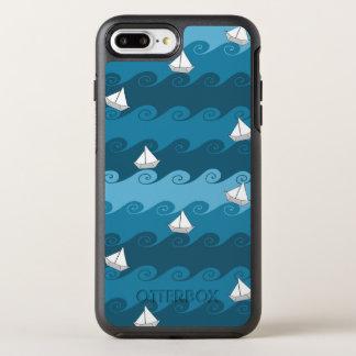 Paper Boats Pattern OtterBox Symmetry iPhone 8 Plus/7 Plus Case