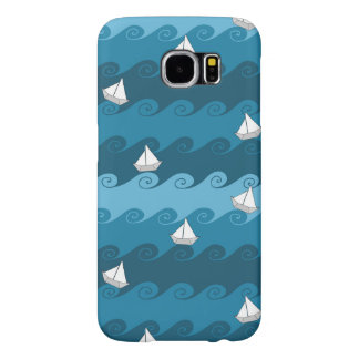 Paper Boats Pattern Samsung Galaxy S6 Cases