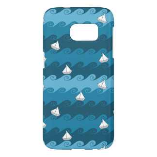 Paper Boats Pattern Samsung Galaxy S7 Case