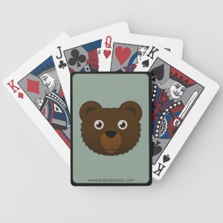 Paper Brown Bear Bicycle Playing Cards