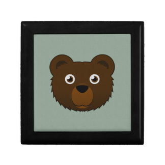 Paper Brown Bear Jewelry Box