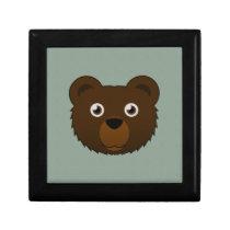 Paper Brown Bear Hinged Gift Box