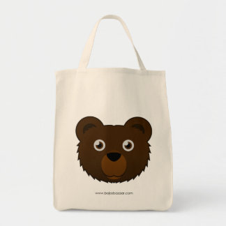 Paper Brown Bear Tote Bag