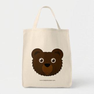Paper Brown Bear Tote Bag