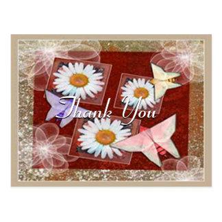 Paper Butterflies Thank You Postcard