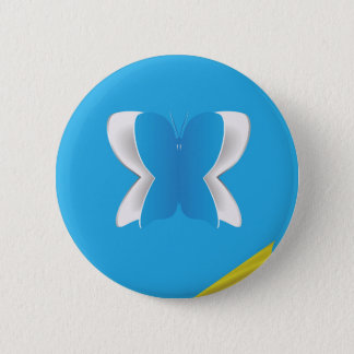 Paper Butterfly Button