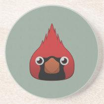 Paper Cardinal Sandstone Coaster