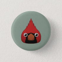 Paper Cardinal Pinback Button